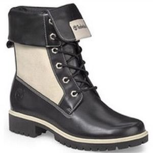 Timberland Fold Over Leather Panel Combat Boots